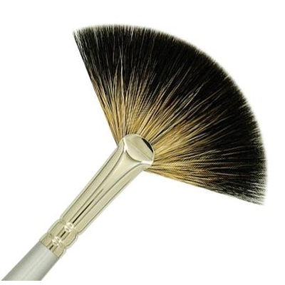225-12 Traditional Fan - Racoon Hair - CLEARANCE ITEM