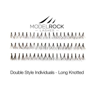 Double Style Individual Lashes - Long Knotted
